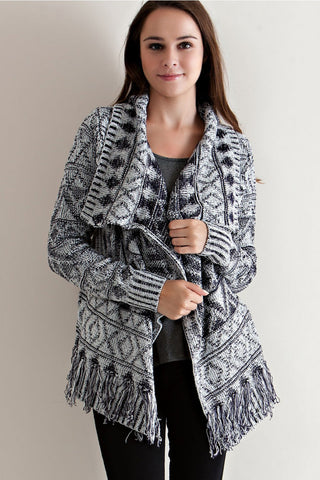 All About Aztec Open Cardigan