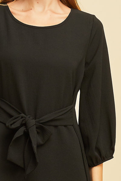 Magical Black Belted Dress