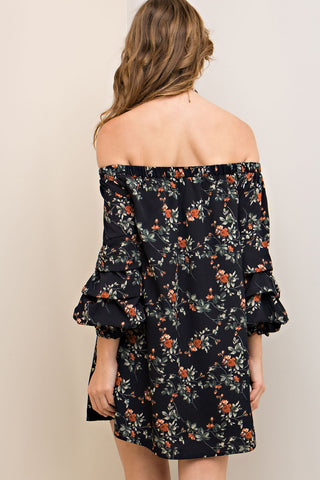 Fall In Love With Floral Fall Dress