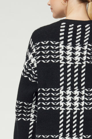 Entro Houndstooth Cardigan