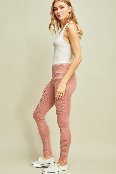 Acid Washed Legging Pants