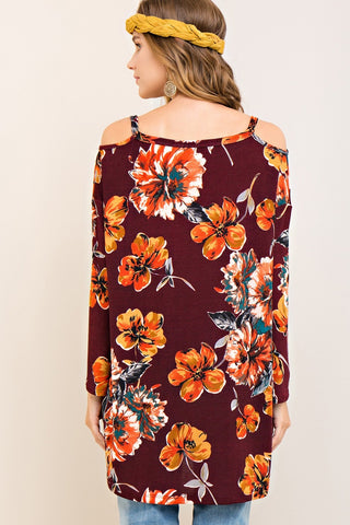 Beautiful in Burgundy Floral Top