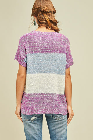 Lovely Lavender Combo Sweater