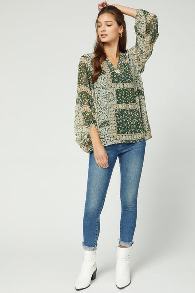 The Right Puff Floral Top