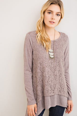 Love Me In Lace Sweater Top