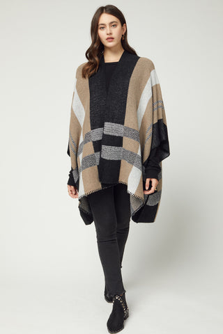 shawl plaid cardigan