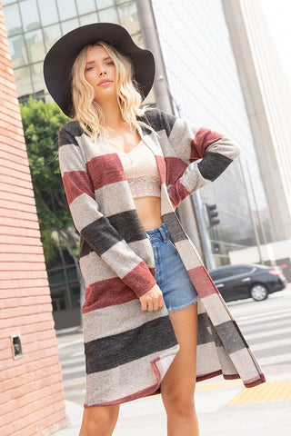 Fall Striped Cardigan