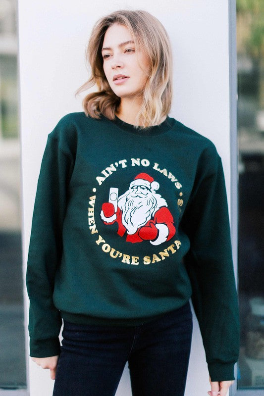 No Laws Christmas Graphic Sweatshirt