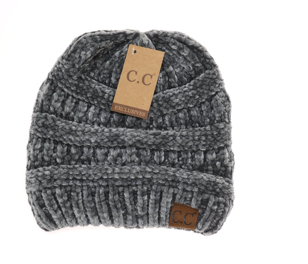 Solid Classic Chenille CC Beanie