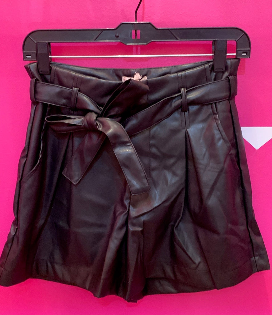 Perfect Black Vegan Leather Shorts
