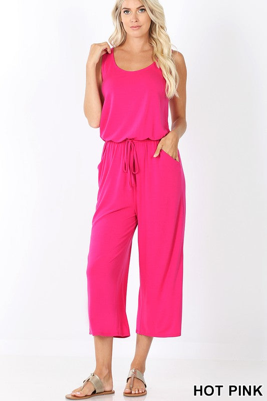 Pink cancer awareness jumpsuit