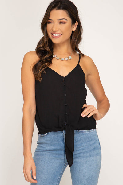 Knot So Basic Cropped Tank Top
