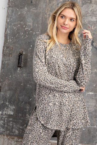 leopard lounge wear