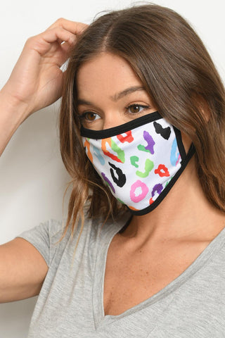 multi colored face mask