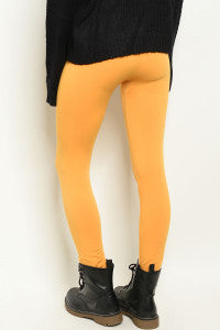 Mustard Fleece Lined Leggings