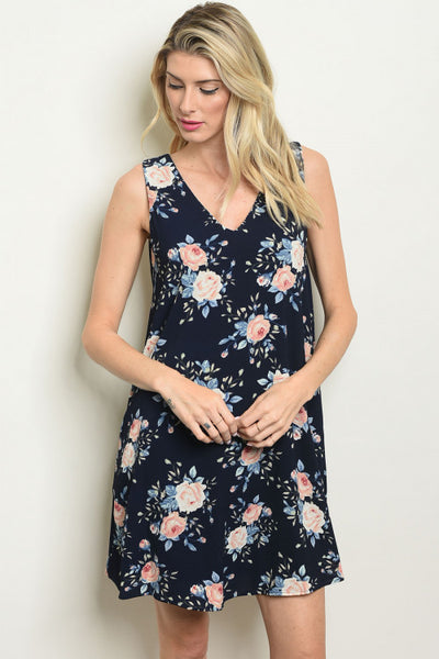 Nice in Navy and Florals Dress