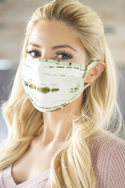 Olive Tie Dye Reusable Face Mask