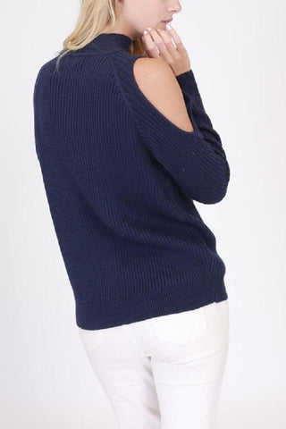 Nice in Navy Turtleneck Sweater