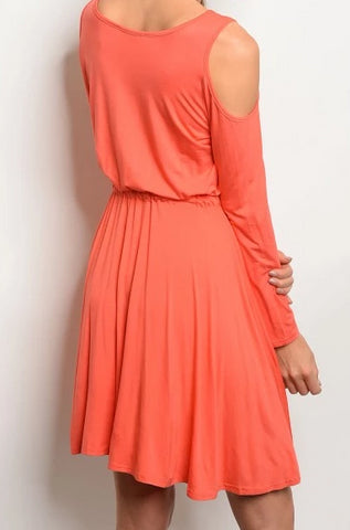 Orange Jersey Tunic Dress