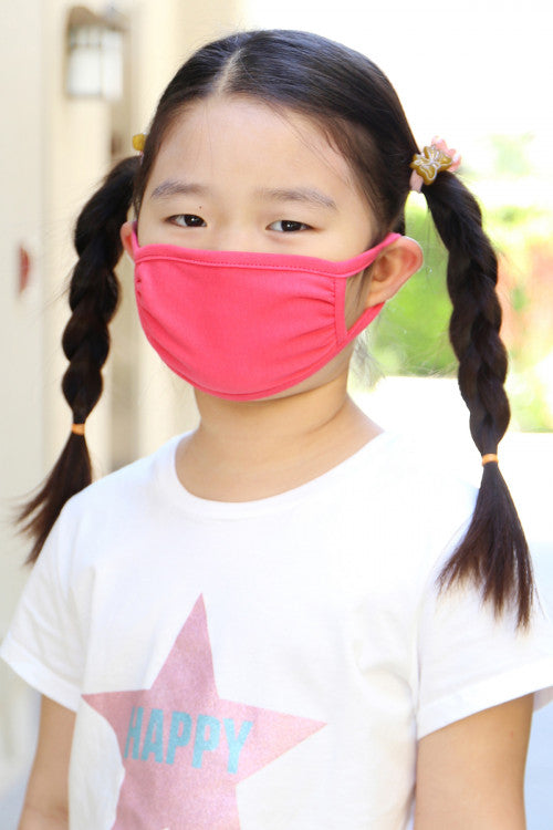 Dark Coral  Reusable Kid's Face Mask