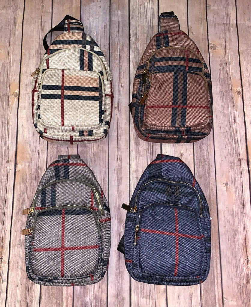 Plaid Sling Bag