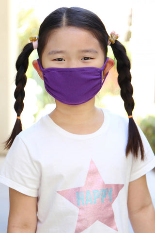 Purple Reusable Kid's Face Mask