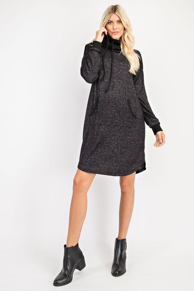 comfy cowl dress