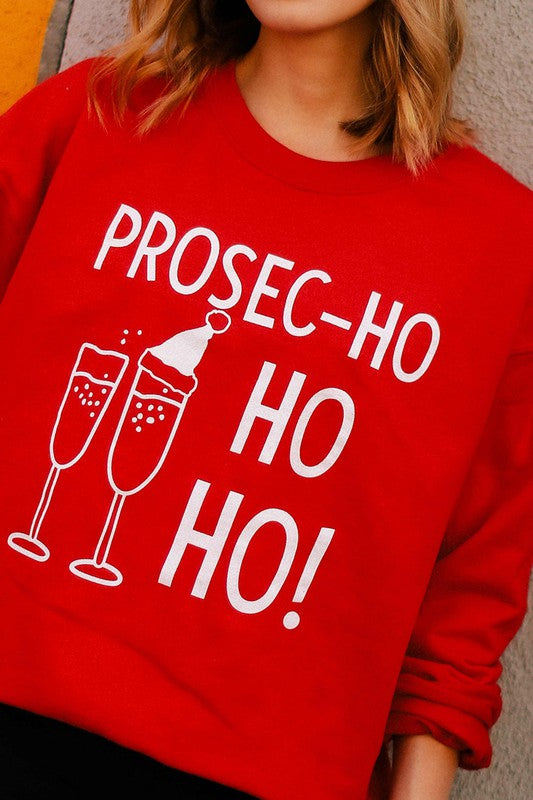 Prosec-ho Christmas Graphic Sweatshirt