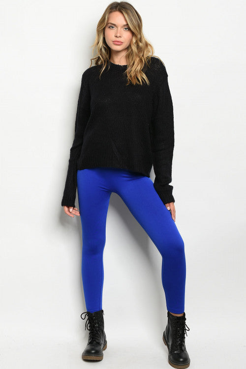 Royal Blue Fleece Lined Leggings