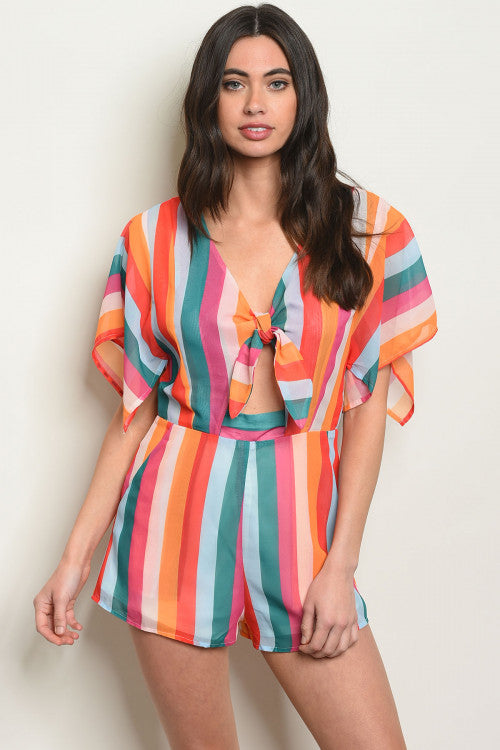 Sexy Stripes Romper