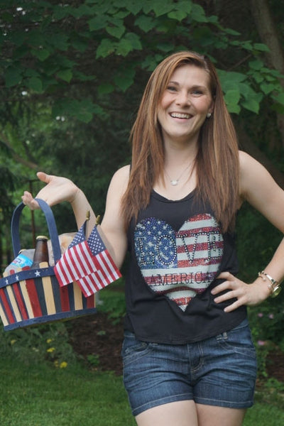 Love America Studded Tank Top
