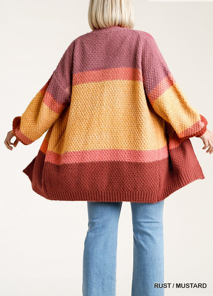 Mauve Multi-Stripe Sweater