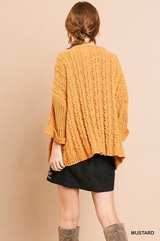mustard warm sweater