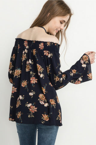 Fun in Floral Off The Shoulder Top
