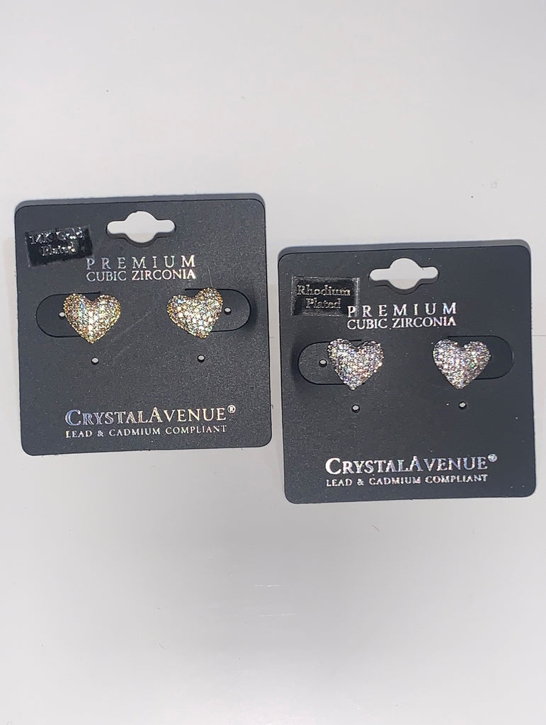 Valentine Heart Stud Earrings