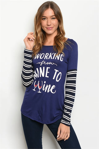 Working Nine to Wine Graphic Tee