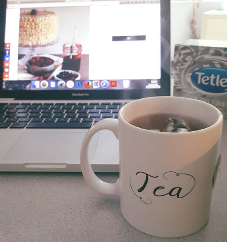 Having a little Earl Grey tea to get in the mood for my #bakingwithtea Raspberry Earl Grey Cake