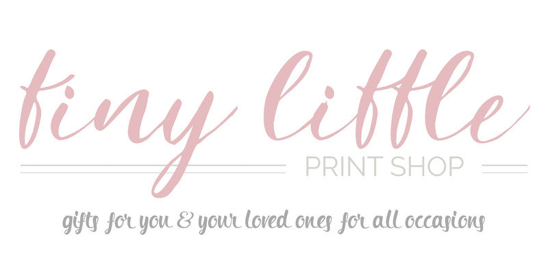 tiny little print shop logo