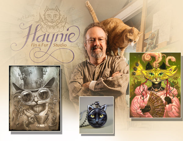 Cat Artist, Cat Art, Cat Jewelry and more.