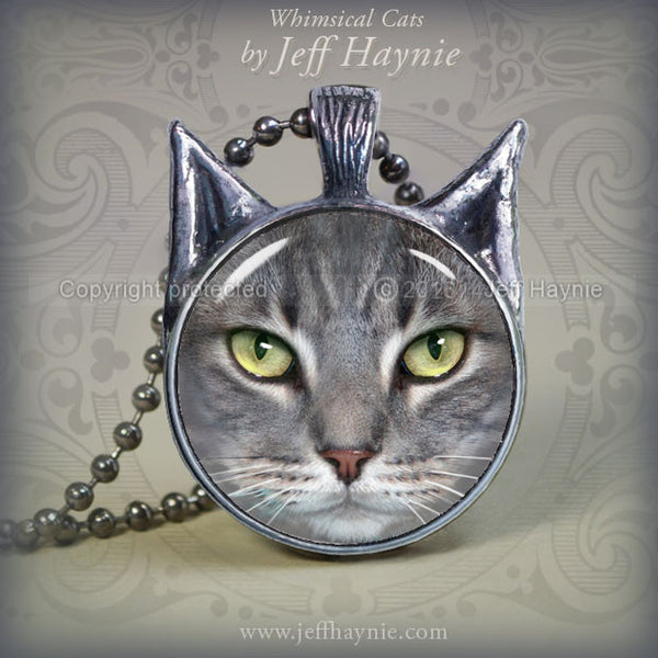 Cat Jewelry, Cat Pendants, Black Cat Jewelry, Black Cat Necklace