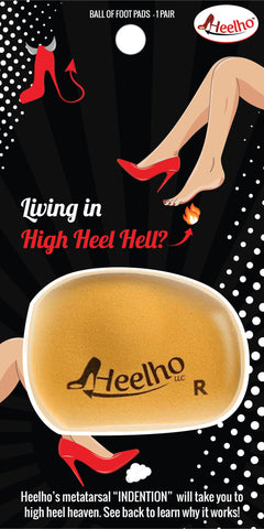 Heelho High Heel Inserts- Front of Package