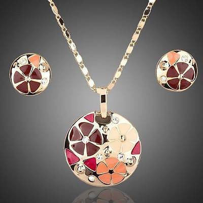 Pendant & Earring Set 'Flowers'