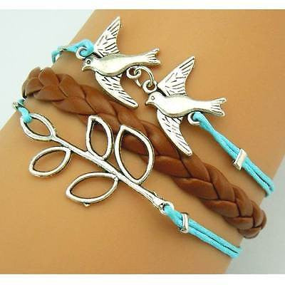 Bracelet - Handmade Leather Weave with Charms