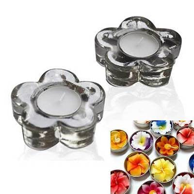 Candle Holder Gift Set - Glass Flower