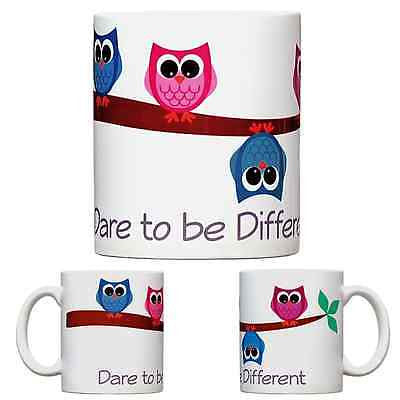 Dare to Be Different Owls - Coffee Mug - Gift Ideas