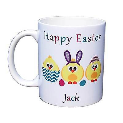 Personalised Photo Mug - 'Happy Easter' Baby Chicken Trio