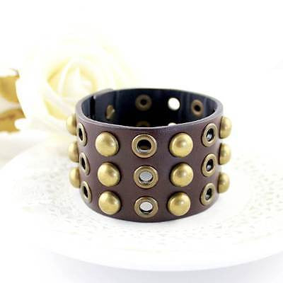 Stud Leather Cuff