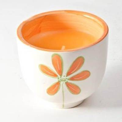 Daisy Ceramic Cup Candle