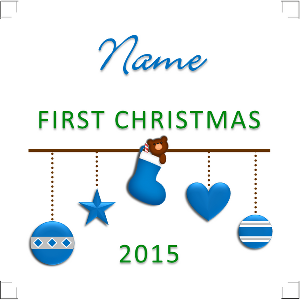 Personalised Baby's First Christmas Ceramic Tile Print - Keepsake