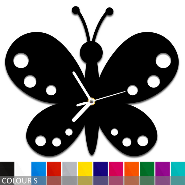 Butterfly Silhouette Wall Clock